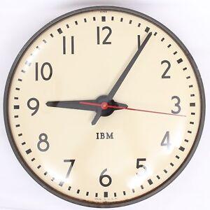1960s-Vintage-IBM-15-40CM-School-Slave-Wall-Clock-Model-95926-Made-in-USA