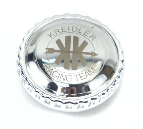 Kreidler Florett K54 Super TS TM GT Tankdeckel 40mm chrom Racing Team Aufdruck !