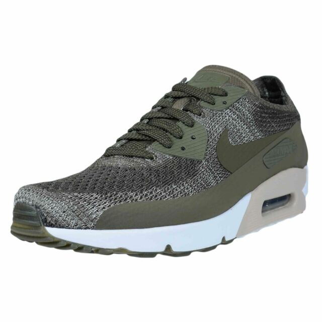 91d1d1a7e8 New Nike Air Max 90 Ultra 2.0 Flyknit Men's Running Shoes Olive Green 875943  200