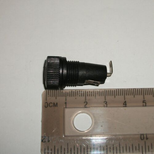 Two Unbranded Panel Mount  Fuse Holders For a 20 mm Fuse