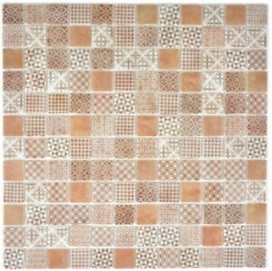 Retro-Vintage-Mosaik-Fliese-ECO-Recycling-GLAS-ECO-braun-Dusche-Wand-145-P-70-b