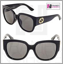 0d27eae3c4e08 GUCCI GG3836FS Square Oversized Black Gold Sunglasses 3836 Asian Fit Optyl