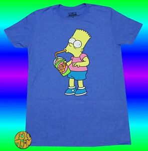 4d686b7a8 New The Simpsons Squishees Sugar Rush Bart Classic Mens Vintage T ...