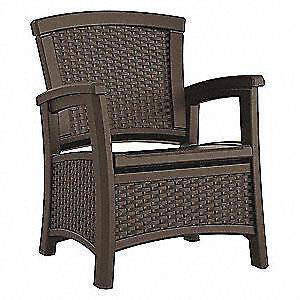 SUNCAST COMMERCIAL Club Chair,Brown,Plastic,Ergonomic Brown BMCCCPD1800