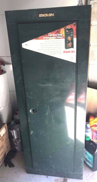 Gun Security Cabinet >> Stack On Gcg 908 Steel 8 Gun Security Cabinet Green For Sale Online