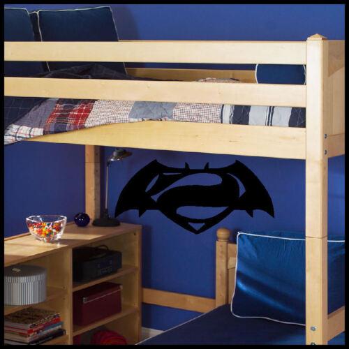 BATMAN V SUPERMAN LOGO WALL STICKER ART TRANSFER HIGH QUALITY MATT VINYL UK