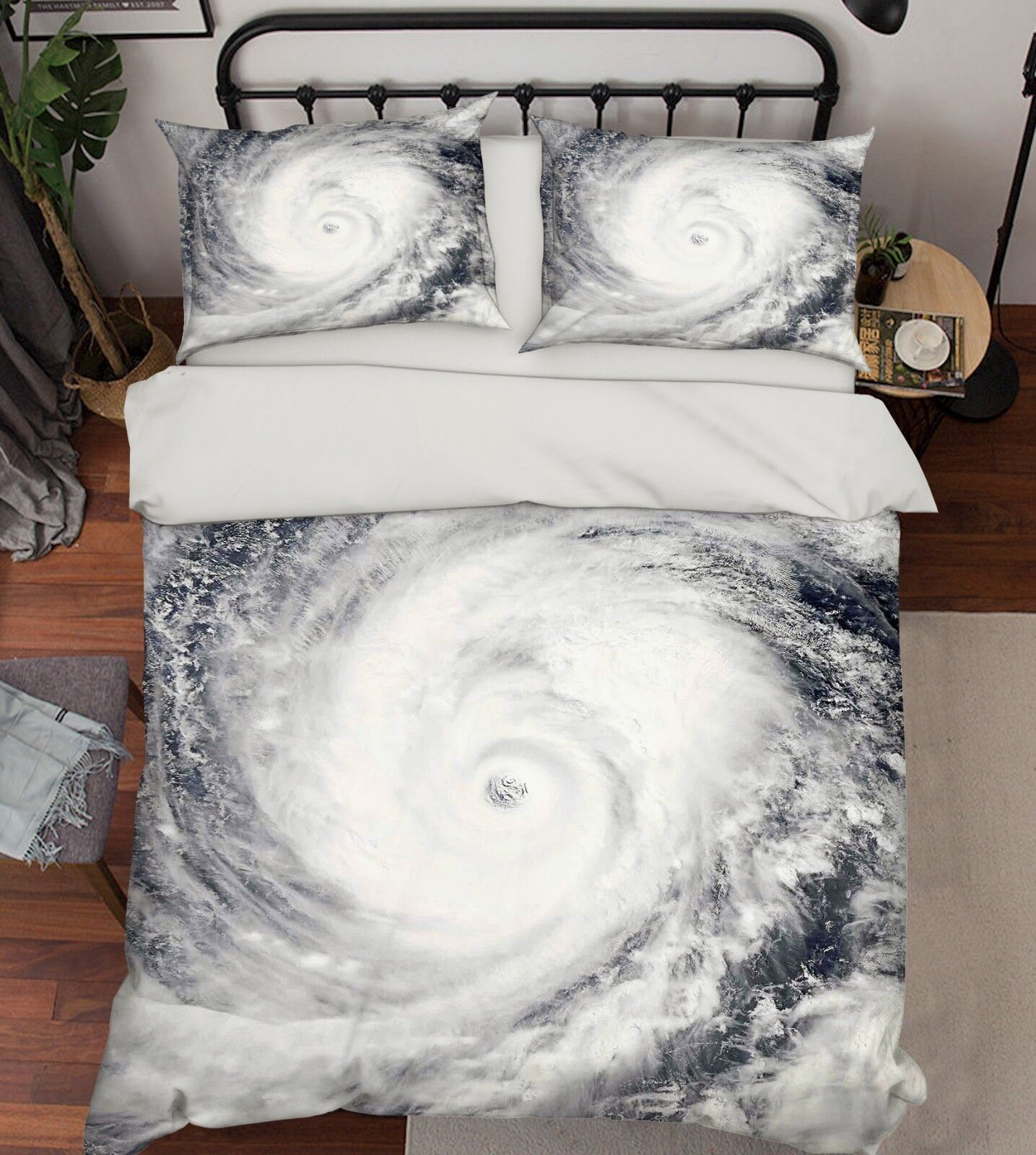 3D Natural Vortex 57 Bed Pillowcases Quilt Duvet Cover Set Single King UK Summer