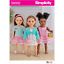 Simplicity Sewing Patterns New Dolls Clothes Incl Autumn 19