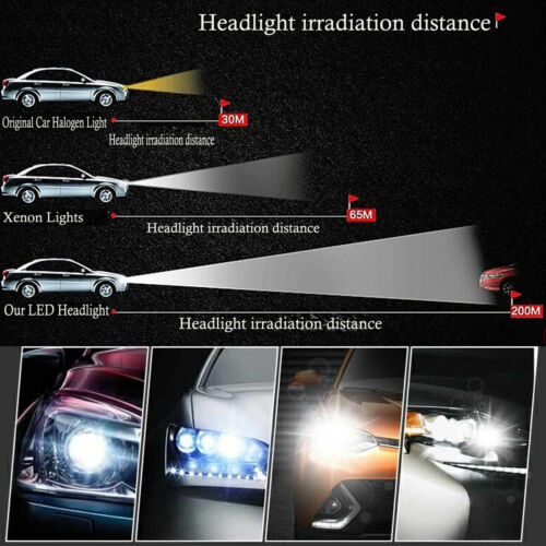 9006 HB4 980W 4-Side CREE LED Car Headlights Low Beam Conversion Mini Bulbs Kit