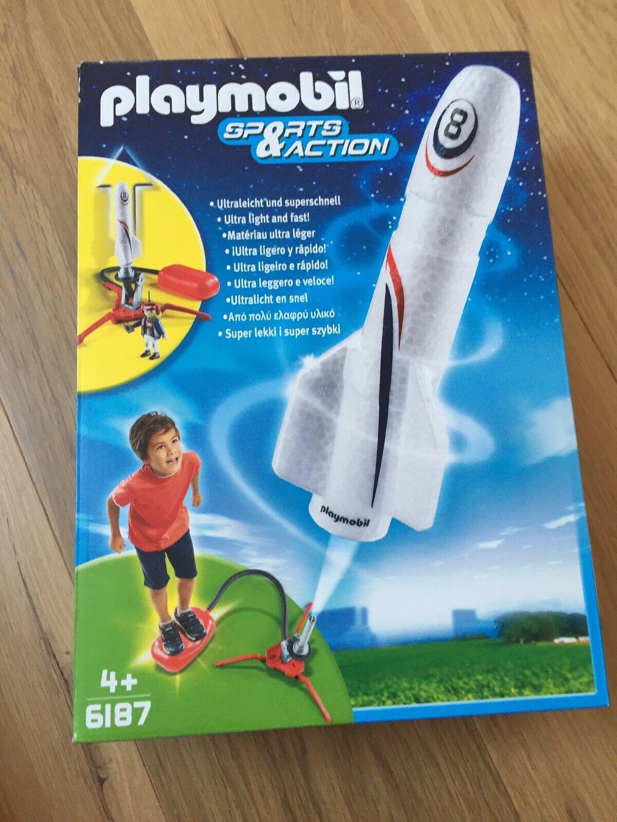 Playmobil 6187 Kinder Spielzeug Rakete + Booster, Neu U OVP