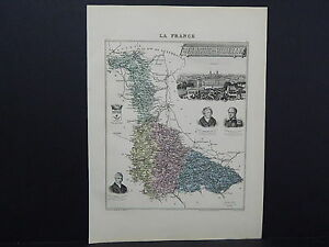 French Department Maps, Antique 1887 Meurthe et Moselle #73
