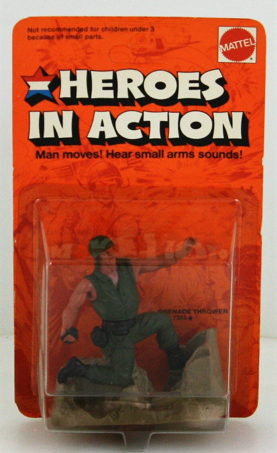 Jahr Mattel HEROES IN Wirkung Wirkung Figure 1974 Grenade Thrower Fall FRESH