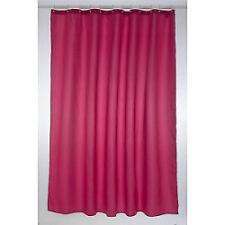 Blue Canyon Plain Polyester Shower Curtain Colour White Size 250cm X 200cm