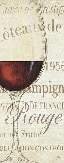 Daphne Brissonnet  Les rots Keilrahmen-Bild Leinwand Wein Küche Gläser