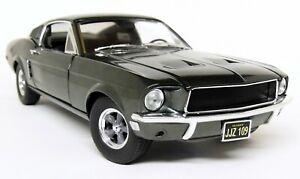 Greenlight-1-18-Scale-1968-Ford-Mustang-GT-Steve-McQueen-Bullitt-Driving-Figure