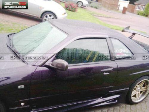 For Nissan Skyline R34 GTT GTR 2 Door Carbon Fiber Rain Wind Visor Deflector Kit