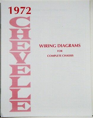1972 Chevelle Factory Wiring Diagram Manual | eBay