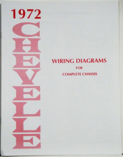 1972 Chevelle Factory Wiring Diagram Manual