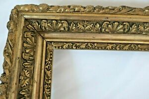ANTIQUE-FITS-10-X-16-034-GOLD-PICTURE-FRAME-WOOD-GESSO-ORNATE-FINE-ART-COUNTRY