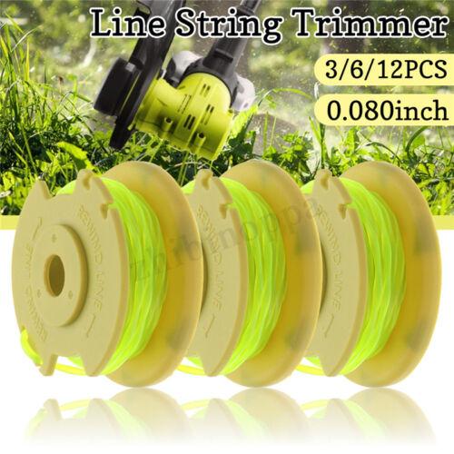 3//6//12PCS SF-080 Auto Feed Line Spool String Trimmer For Ryobi 12//24//40V Mower
