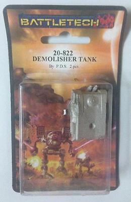 Battletech Battletech Miniatures Demolisher Tank By Iron Metals Iwm 20-822 Removing Obstruction Miniatures, War Games