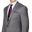 thumbnail 5 - Ralph-Lauren-Purple-Label-Mens-Anthony-Grey-Sharkskin-Modern-Wool-Slim-Suit-38L