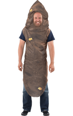 Kreativ Mens Number Two Giant Poo With Corn Funny Novelty Stag Do Fancy Dress Costume Noch Nicht VulgäR