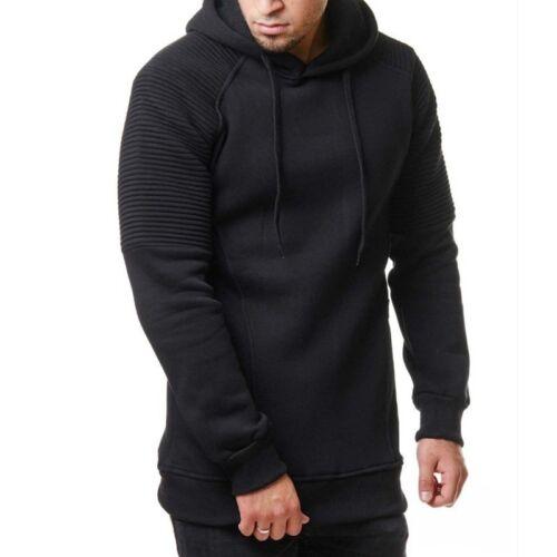 Men/'s Cotton Jacket Warm Hooded Sweatshirt Hoodie Pullover Hoody Casual Pocket
