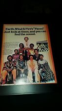 Earth, Wind, And Fire Faces Rare Original Promo Poster Ad Framed!