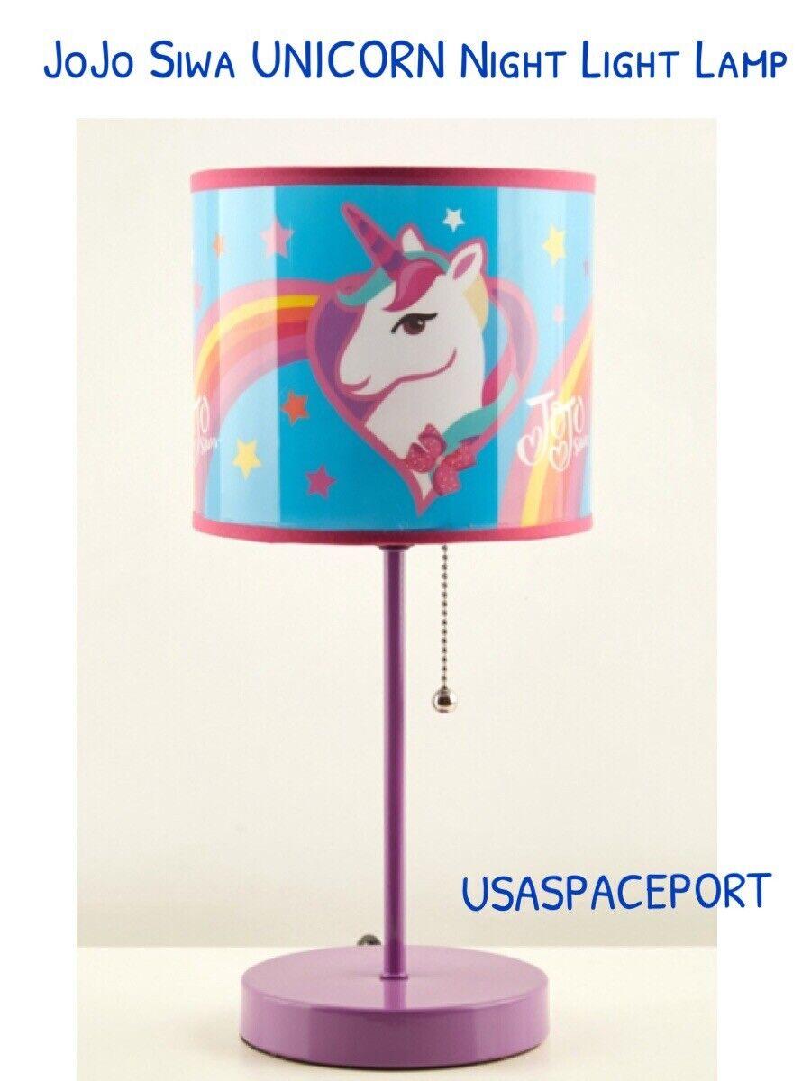 Jojo Siwa 14  Licorne Baton Lampe + Abat-jour Lumière Nuit Chambre Literie salle de jeux decor