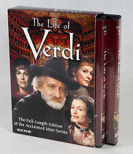 The Life of Verdi DVD (2003, 4 Disc Set) - 1982 TV Mini Series Extended Version