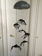 2004 GEMMY ANIMATED HALLOWEEN SHAKING SPIDERS WIND CHIMES Lights & Sound VHTF