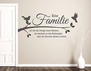 Das Bild Wird Geladen Wandtattoo Wohnzimmer  Wandtatoo Spruch Familie Ist Zweige Eines