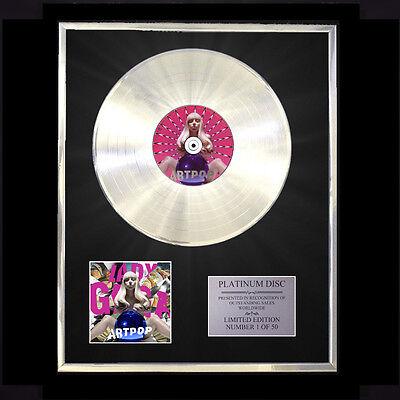 LADY GAGA ARTPOP CD PLATINUM DISC FREE P+P!!