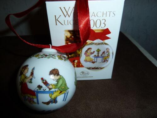 in OVP Weihnachtskugel Hutschenreuther Weihnachten PORZELLANKUGEL 2003