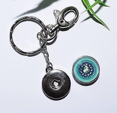 Schlüsselanhänger ++ Auswahl ++ STERNZEICHEN +++ snap button Druckknopf Horoskop