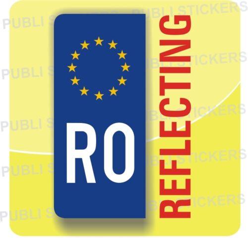 "1 European Driving Self Adhesive Blue Reflecting /""ROMANIA/""Sticker,Car,Auto,Plate"