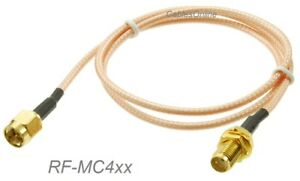 SMA-Male-to-SMA-Bulkhead-Female-RG316-Coax-Low-Loss-RF-Cable