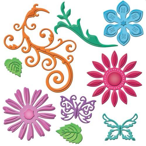 SPELLBINDERS SHAPEABILITIES JEWEL FLOWERS /& FLOURISHES CUTTING DIE UNIVERSAL FIT