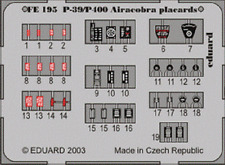 Eduard Zoom FE195 1/48 Bell P-39 Airacobra placards