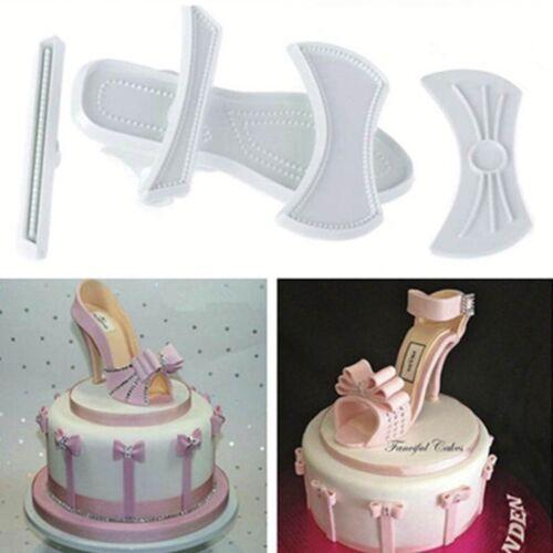 9pcs Plastic DIY Lady High-Heeled Shoes Fondant Cake Sugarcraft Baking Mould