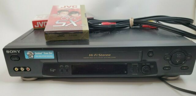 Sony SLV-N71 VHS VCR Player Recorder 4 Heads HI-FI Stereo with AV & taps TESTED