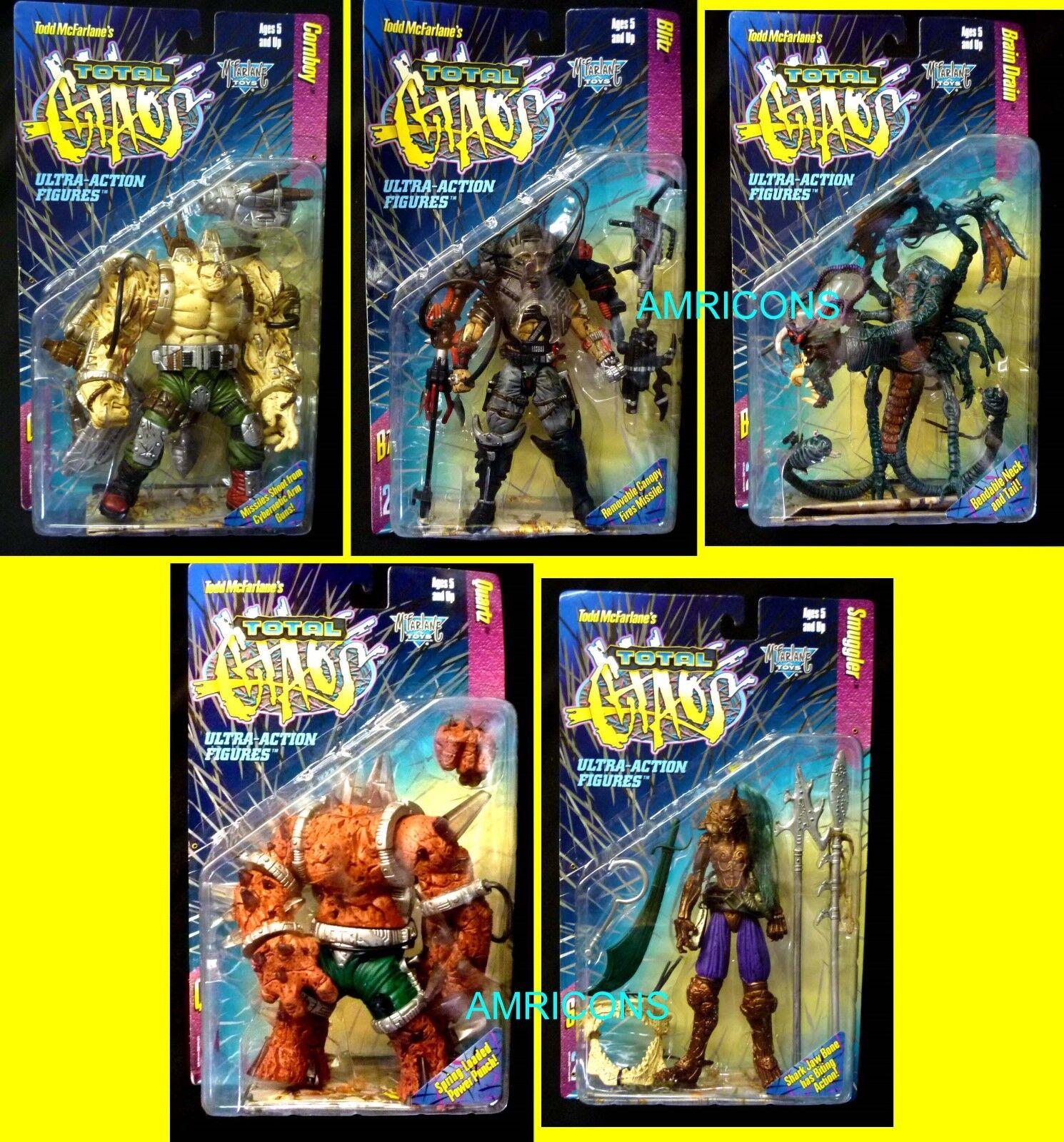 Le chaos Total 2 Action Figure Set de 5 Nouveau 1997 BRAIN DRAIN McFarlane Toys spawn
