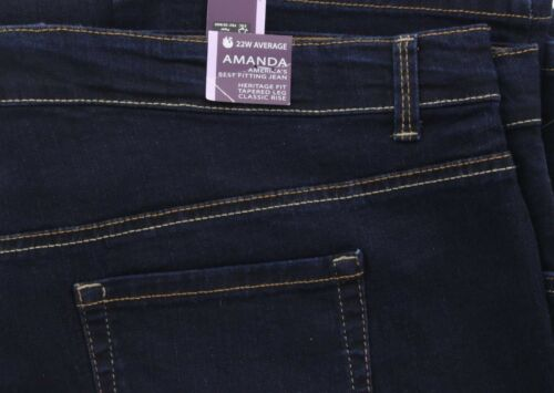 Gloria Vanderbilt Women/'s Amanda Classic Tapered Denim Stretch Jeans