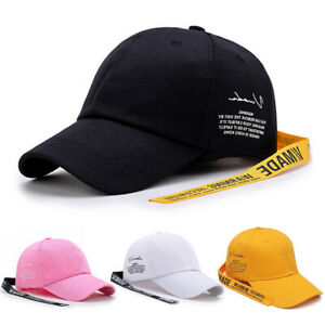 Mens-Womens-Ladies-Korean-Letter-Casual-Baseball-Cotton-Plain-Sports-Summer-Hat