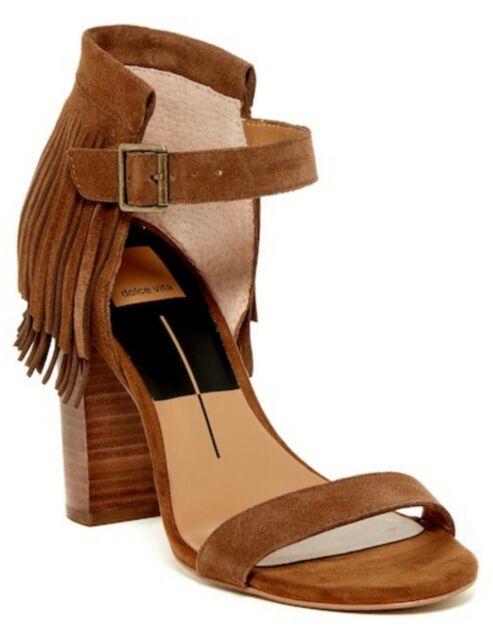 1bce6380377 dolce vita rust brown taupe suede Nancy fringe chunky heel 8.5  155.00  Nordstrom