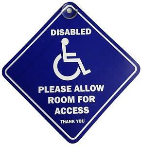 Favor-de-permitir-espacio-para-acceso-discapacitados-Succion-Coche-Furgoneta-Ventana-Placa-Senal-De