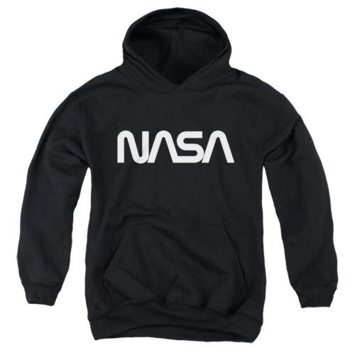 NASA WORM LOGO Kids Hoodie Sweatshirt SM-XL BOYS GIRLS SZ 6-20