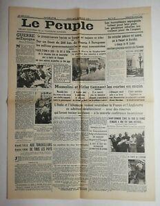 N547-La-Une-Du-Journal-Le-peuple-2-aout-1936-guerre-de-Espagne-Mussolini-Hitler
