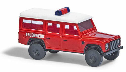 """BUSCH Modelle 1:160//Spur N PKW Land Rover Defender /""""Feuerwehr/"""" rot//weiss #8375"""